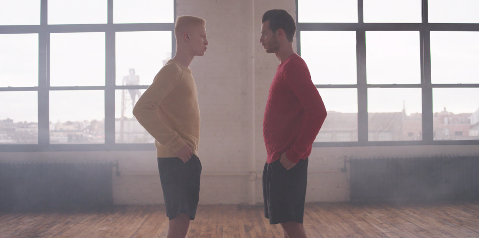 Ü ZIET: SHAUN ROSS IN BENT VAN LOOY'S 'THE JANTE LAW' SS14